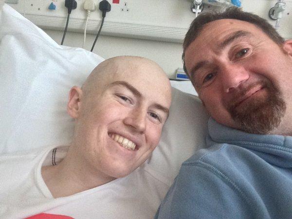 Zac in hospital
